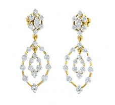 Natural Diamond Earrings 1.26 CT / 4.93 gm Gold