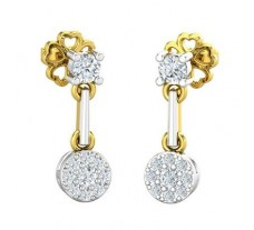 Natural Diamond Earrings 0.32 CT / 2.69 gm Gold