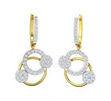 Natural Diamond Earrings 0.95 CT / 4.81 gm Gold