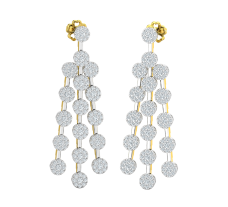 Natural Diamond Earrings 2.04 CT / 10.50 gm Gold