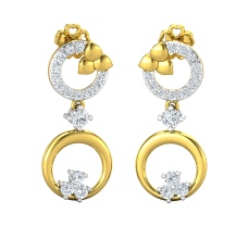 Natural Diamond Earrings 0.60 CT / 3.74 gm Gold