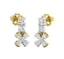Natural Diamond Earrings 0.49 CT / 2.33 gm Gold