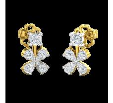 Natural Diamond Earrings 0.39 CT / 2.60 gm Gold