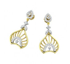 Natural Diamond Earrings 0.49 CT / 3.86 gm Gold