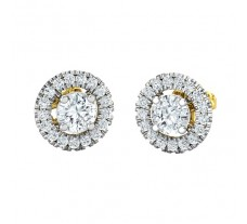Natural Diamond Earrings 0.73 CT / 2.00 gm Gold
