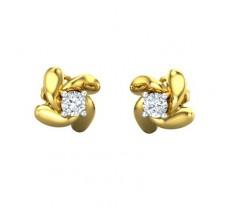 Natural Diamond Earrings 0.20 CT / 2.95 gm Gold