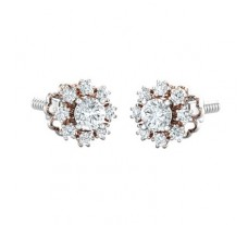 PreSet Natural Solitaire Diamond Earrings 1.32 CT / 2.55 gm Gold