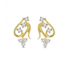 Diamond Earrings 0.27 CT / 3 gm Gold