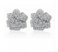 Diamond Earrings 1.38 CT / 7.5 gm Gold