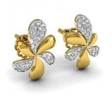 Natural Diamond Earrings 0.16 CT / 2.75 gm Gold