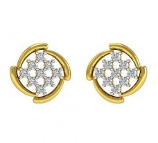 Natural Diamond Earrings 0.27 CT / 3.50 gm Gold