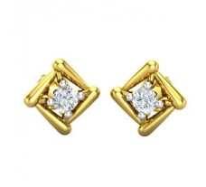 Natural Diamond Earrings 0.07 CT / 1.50 gm Gold