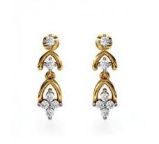 Diamond Earrings 0.19 CT / 3.00 gm Gold