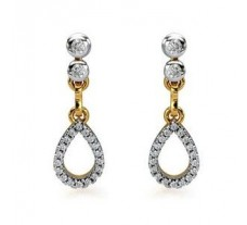 Diamond Earrings 0.44 CT / 3.50 gm Gold