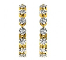 Natural Diamond Earrings 0.21 CT / 2.90 gm Gold