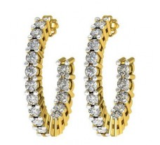 Natural Diamond Earrings 0.41 CT / 2.50 gm Gold