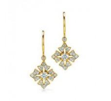 Diamond Earrings 0.36 CT / 3.03 gm Gold