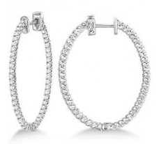 Diamond Earrings 1.13 CT / 4.00 gm Gold