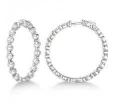 Diamond Earrings 1.08 CT / 4.00 gm Gold