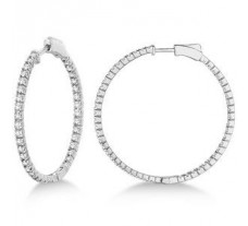 Diamond Earrings 2.04 CT / 4.50 gm Gold