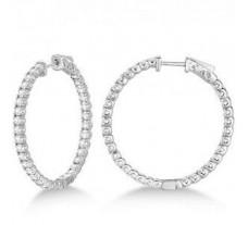 Diamond Earrings 1.52 CT / 4.50 gm Gold