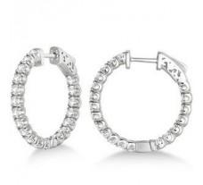 Diamond Earrings 1.20 CT / 4.50 gm Gold