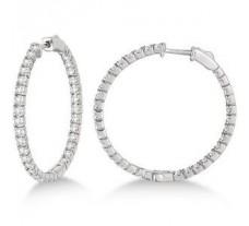 Diamond Earrings 1.65 CT / 4.50 gm Gold