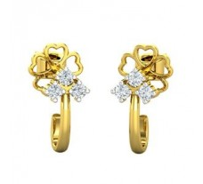 Natural Diamond Earrings 0.12 CT / 2.70 gm Gold