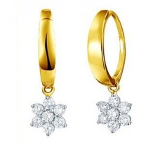 Diamond Earrings 0.33 CT / 3.00 gm Gold
