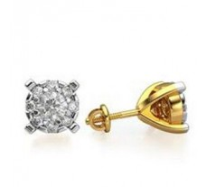 Natural Diamond Designer Earrings 0.14 CT / 1.52 gm Gold