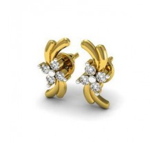 Diamond Designer Earrings 0.12 CT / 1.85 gm Gold