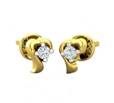 Natural Diamond Earrings 0.08 CT / 2.00 gm Gold