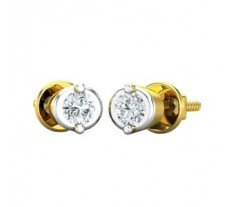 Natural Diamond Earrings 0.10 CT / 1.80 gm Gold