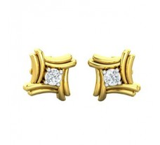 Natural Diamond Earrings 0.10 CT / 3.00 gm Gold
