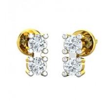 Natural Diamond Earrings 0.18 CT / 1.70 gm Gold