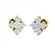 Natural Diamond Traditional Earrings 0.16 CT / 2.00 gm Gold