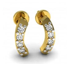 Natural Diamond Designer Earrings 0.16 CT / 2.00 gm Gold