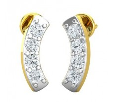 Natural Diamond Designer Earrings 0.36 CT / 2.62 gm Gold