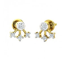 Natural Diamond Designer Earrings 0.21 CT / 1.97 gm Gold