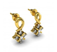 Diamond Designer Earrings 0.12 CT / 2.10 gm Gold
