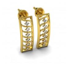 Natural Diamond Earrings 0.18 CT / 4.40 gm Gold