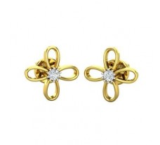Natural Diamond Designer Earrings 0.10 CT / 1.38 gm Gold