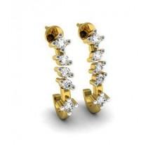 Natural Diamond Earrings 0.18 CT / 2.40 gm Gold