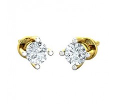 Natural Diamond Earrings 0.30 CT / 1.60 gm Gold