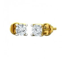 Natural Diamond Earrings 0.30 CT / 1.40 gm Gold
