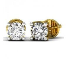 Natural Diamond Earrings 0.50 CT / 2.90 gm Gold