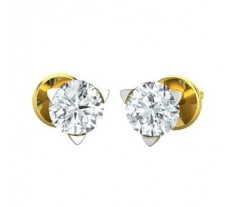Natural Diamond Earrings 0.30 CT / 2.50 gm Gold
