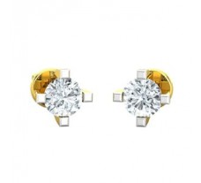 Natural Diamond Earrings 0.30 CT / 1.45 gm Gold