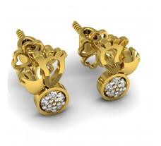 Natural Diamond Designer Earrings 0.05 CT / 1.85 gm Gold