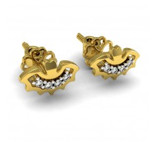 Diamond Earrings 0.09 CT / 2.30 gm Gold